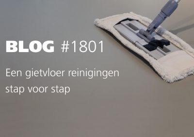 Een gietvloer reinigen stap voor stap